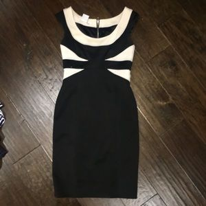 Maggy London Sz 6 Black & white dress EUC